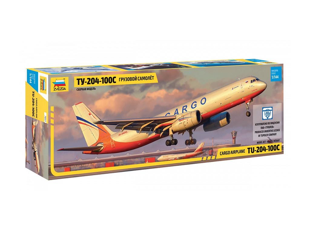 Сборная модель Zvezda Грузовой самолет ТУ-204-100С 7031