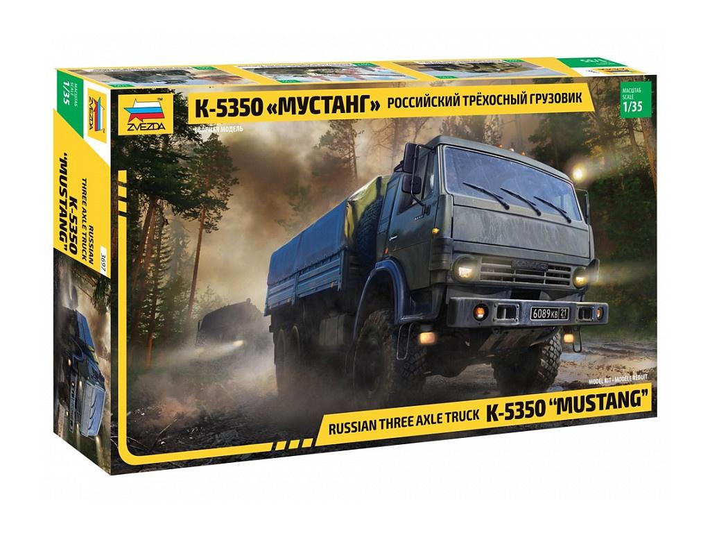 Сборная модель Zvezda Российский трехосный грузовик К-5350 Мустанг 3697