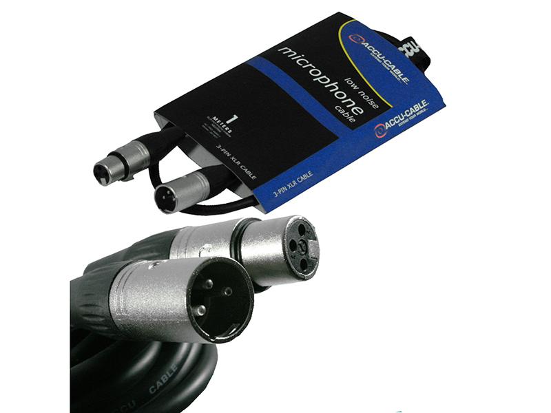 Шнур микрофонный American Dj AC-PRO-XMXF/1 XLR 1m