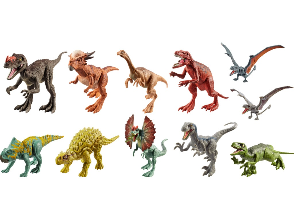 Фигурки динозавров Mattel Jurassic World Атакующая стая FPF11 ()