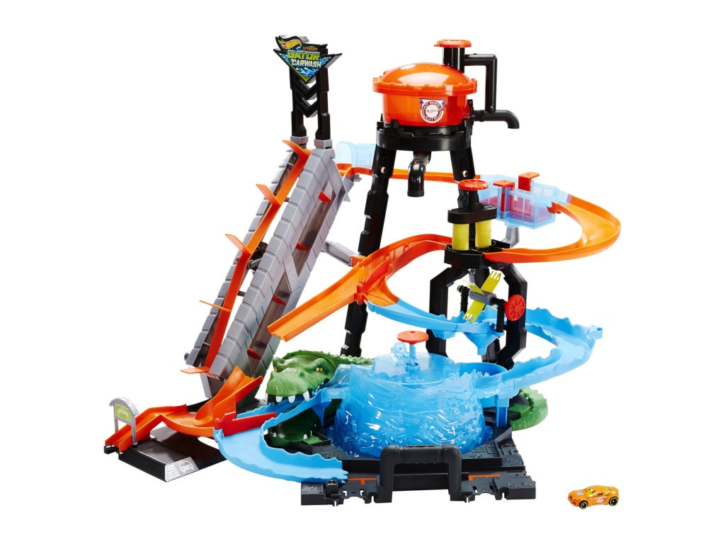 Автотрек Mattel Hot Wheels Сити Невообразимая автомойка FTB67