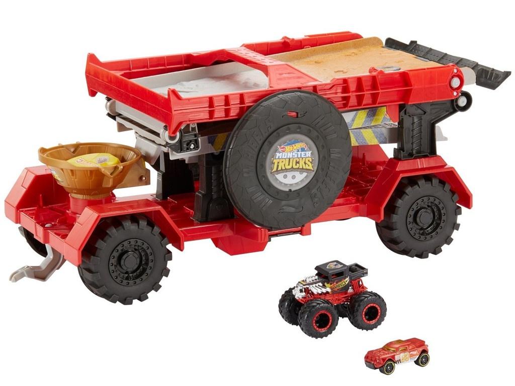 Автотрек Mattel Hot Wheels Монстр трак Передвижной трамплин GFR15 все цены