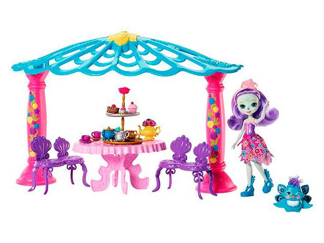 Игровой набор Mattel Enchantimals Чаепитие Пэттер Павлины и Флэпа FRH49 игровой набор металлической посуды чудесное чаепитие melala