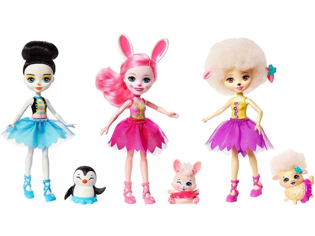 Кукла Mattel Enchantimals Волшебные балерины FRH55