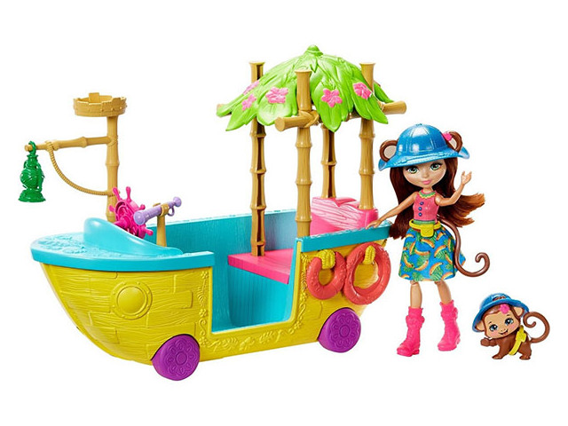 Игровой набор Mattel Enchantimals Джунгли-лодка GFN58
