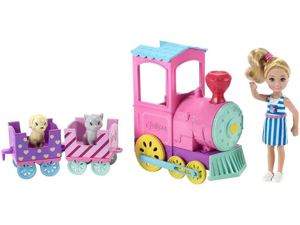 Кукла Barbie Клуб Челси Паровозик FRL86