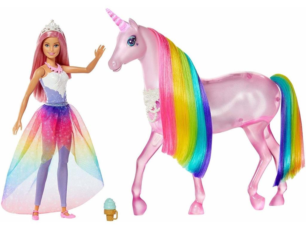 Кукла Mattel Barbie с радужным единорогом FXT26