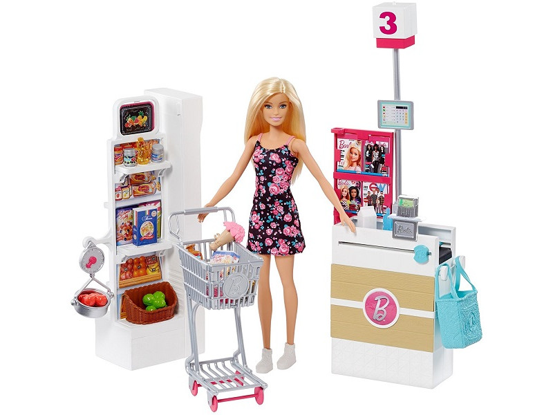 Кукла Mattel Barbie Супермаркет FRP01 ()