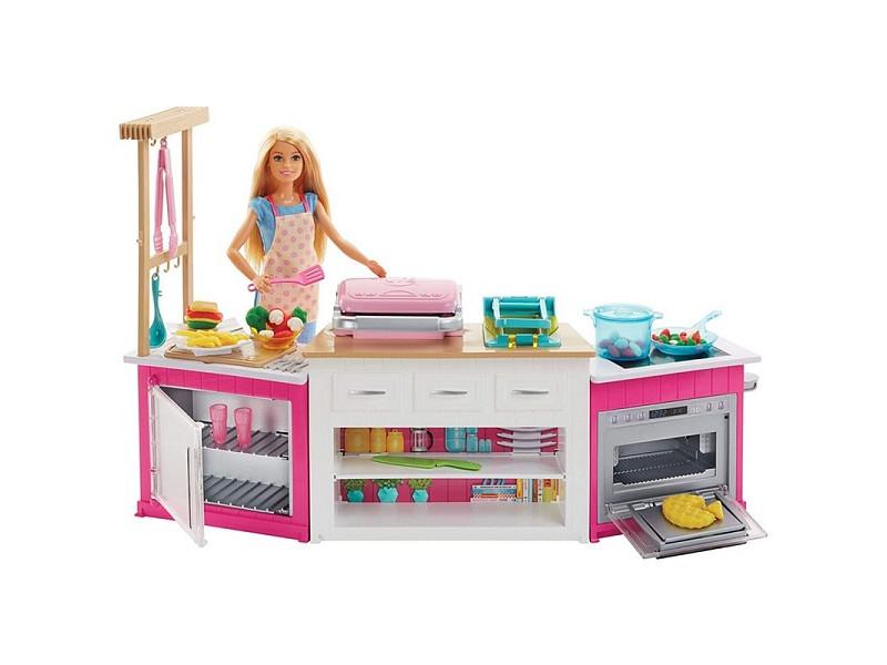 Кукла Mattel Barbie Супер кухня FRH73