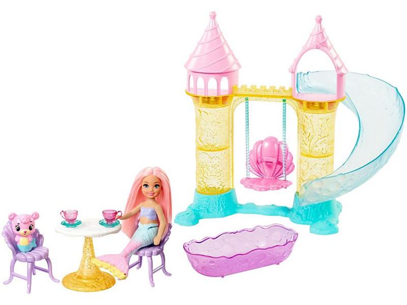 Кукла Mattel Barbie Замок русалочки Челси FXT20