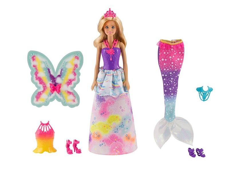 Кукла Mattel Barbie Сказочная принцесса-фея-русалка FJD08