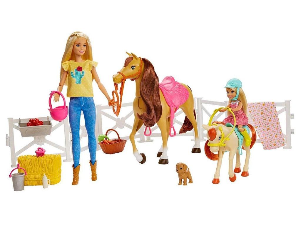 Кукла Mattel Barbie Челси и любимые лошадки FXH15