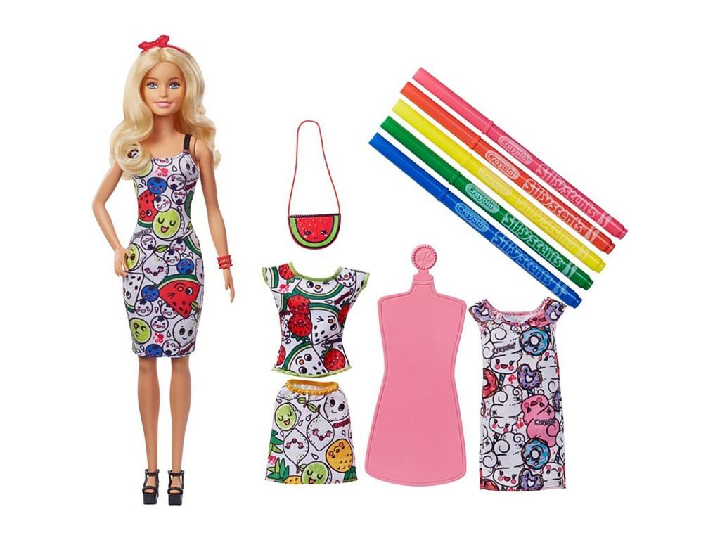 Кукла Mattel Barbie и Crayola с ароматной одеждой GGT44