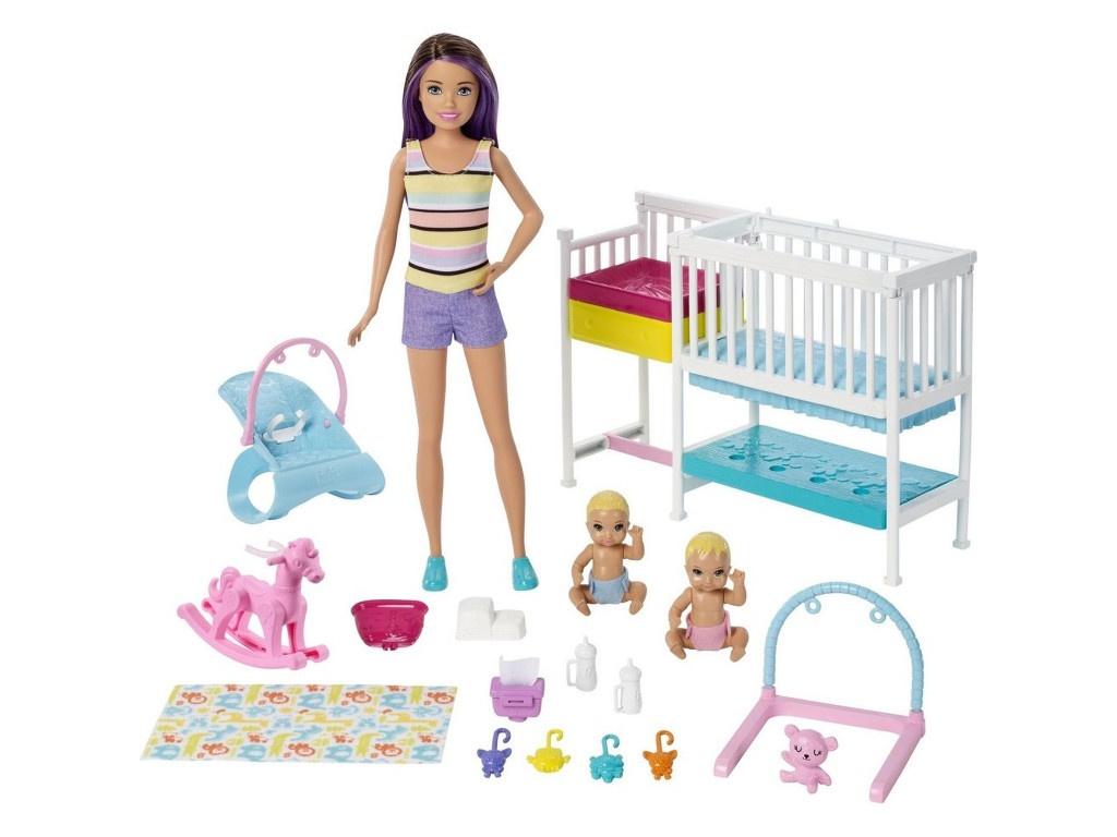 Кукла Mattel Barbie Скиппер и малыши GFL38