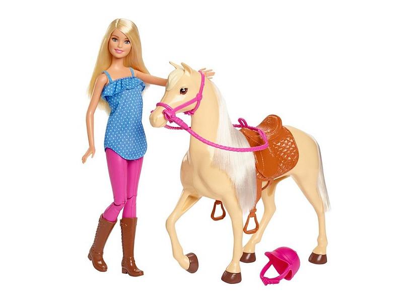 Кукла Mattel Barbie и лошадь FXH13