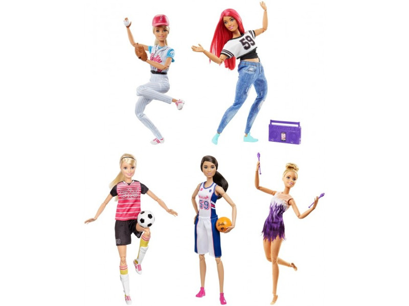Кукла Mattel Barbie Спортсменки безграничные движения DVF68 кукла barbie fashionistas 57