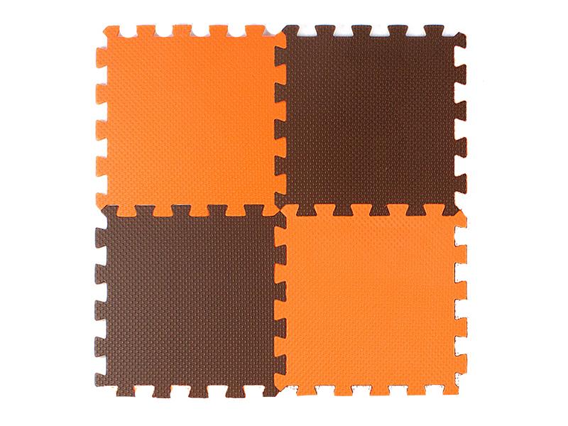 Развивающий коврик Экопромторг Мягкий пол универсальный Orange-Brown 25МП1/4