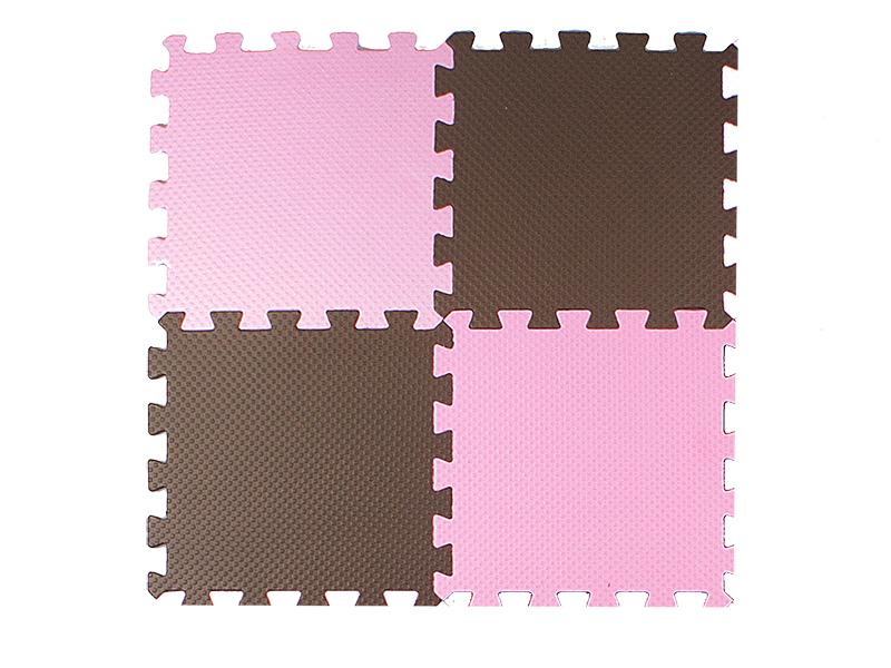 Развивающий коврик Экопромторг Мягкий пол универсальный Pink-Brown 25МП1/2
