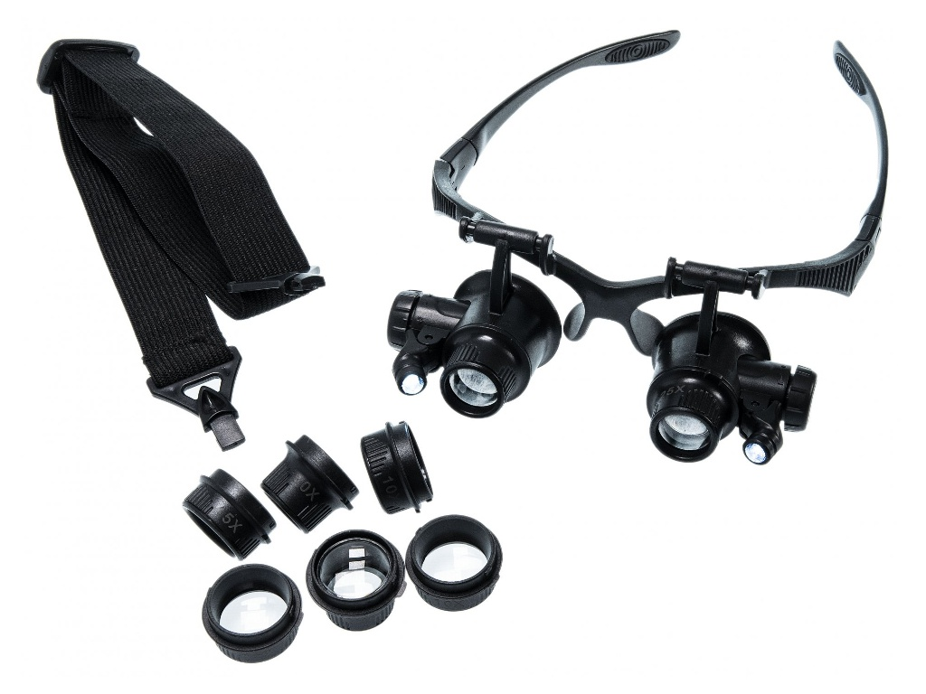 Лупа-очки Zhengte MG9892GJ 10x1/5x/20x/25x