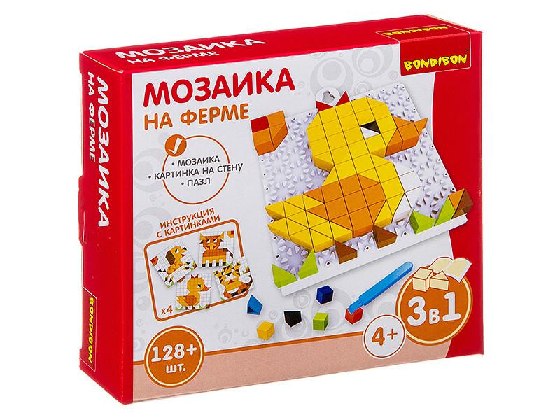Настольная игра Bondibon Мозаика На ферме ВВ3026