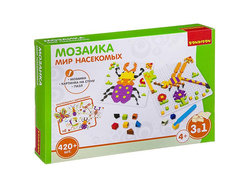 Настольная игра Bondibon Мозаика Мир насекомых ВВ3031