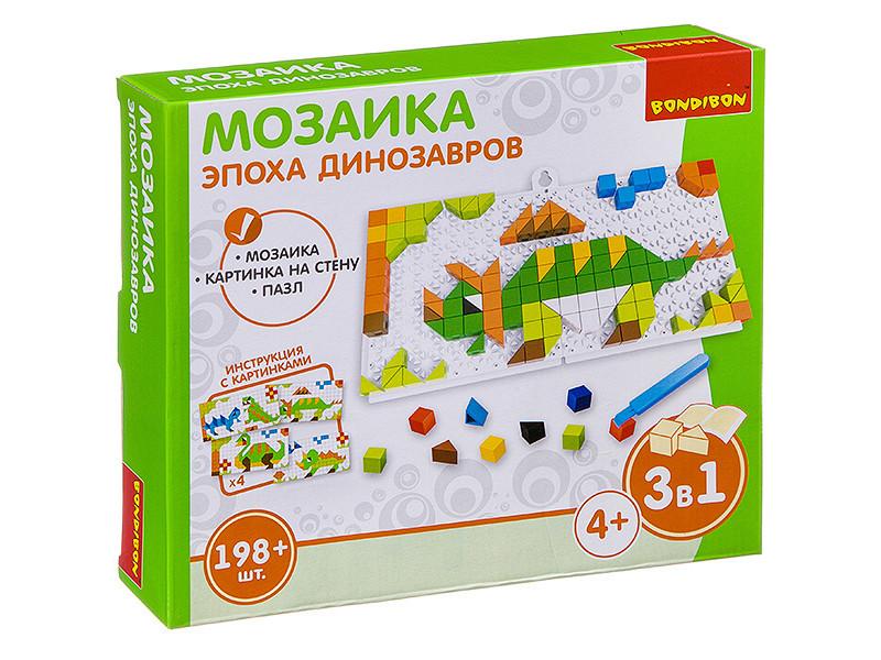 Настольная игра Bondibon Мозаика Эпоха динозавров ВВ3028