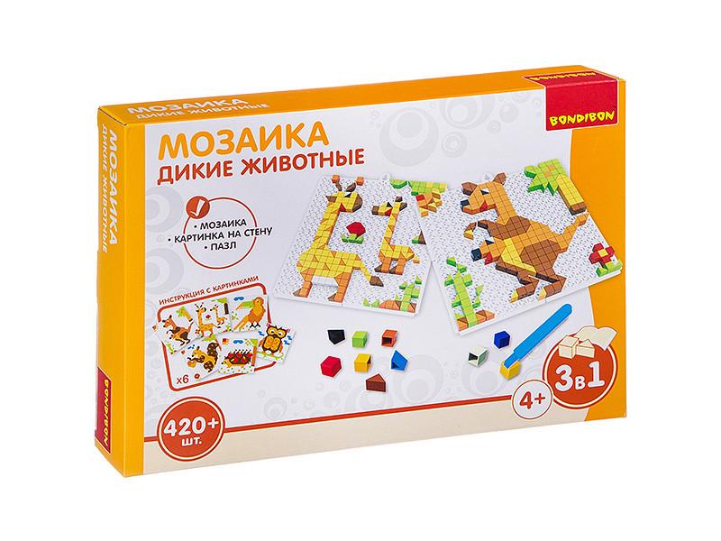 Настольная игра Bondibon Мозаика Дикие животные ВВ3032
