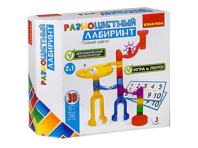 Конструктор Bondibon Разноцветный лабиринт 36 дет. ВВ2742