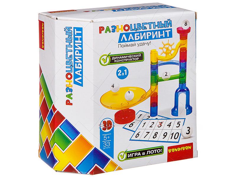 Конструктор Bondibon Разноцветный лабиринт 33 дет. ВВ2741