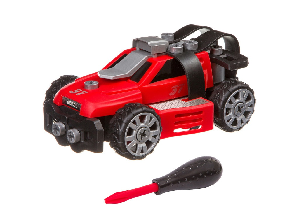 Конструктор Bondibon Машинка с отверткой Полиция Red ВВ3383