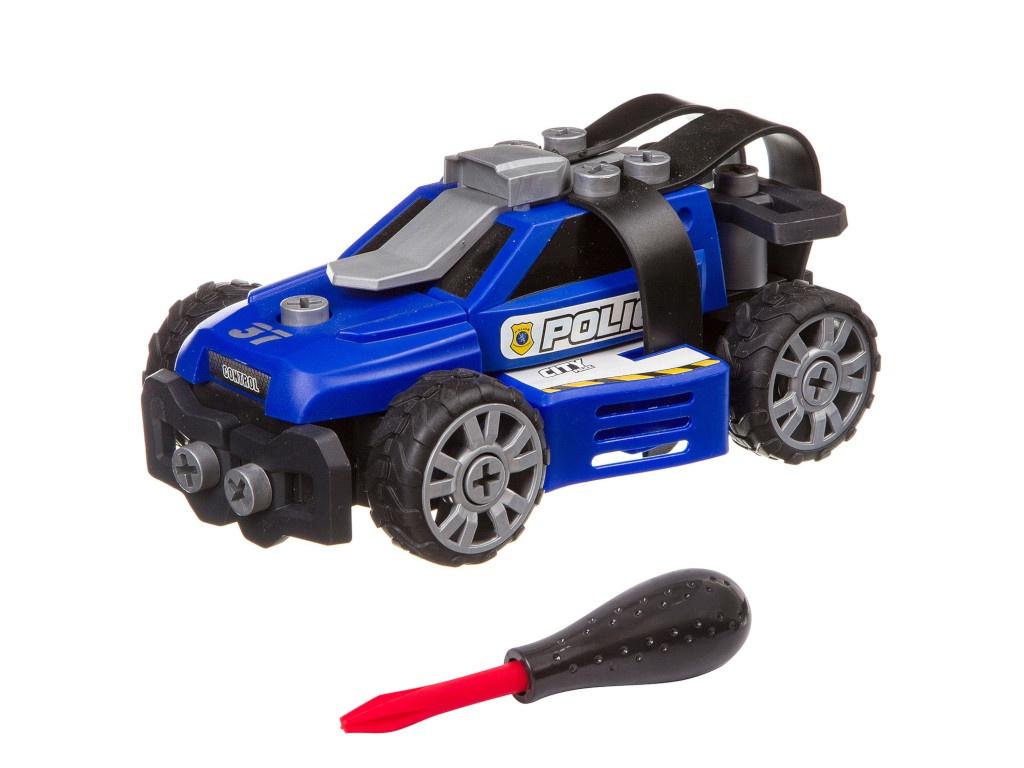 Конструктор Bondibon Машинка с отверткой Полиция Blue ВВ3382