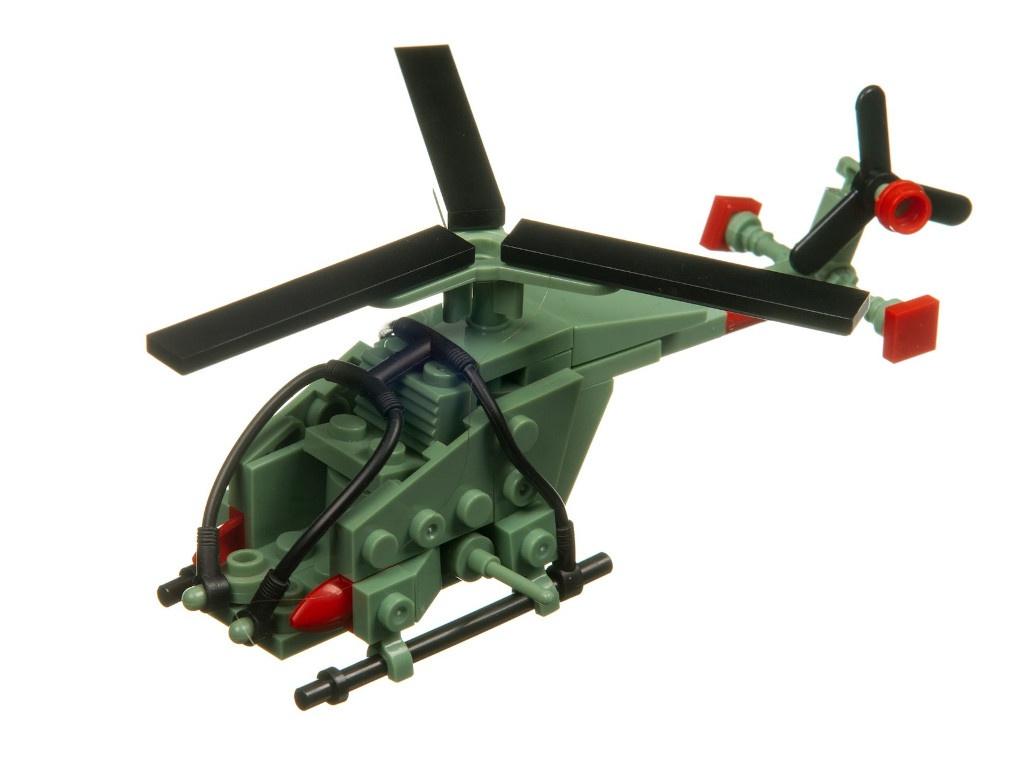 Конструктор Bondibon Военный Десант Вертолет 101 дет. ВВ3673