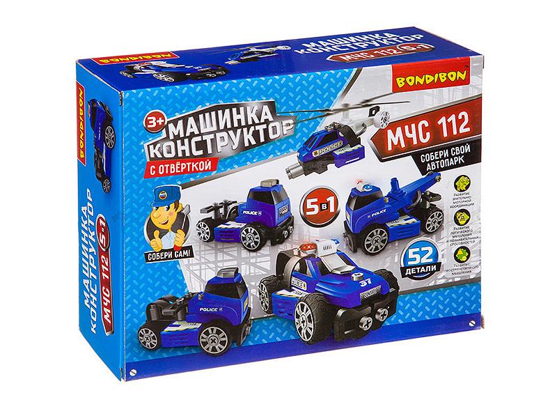Конструктор Bondibon Машинка с отверткой МЧС ВВ3387