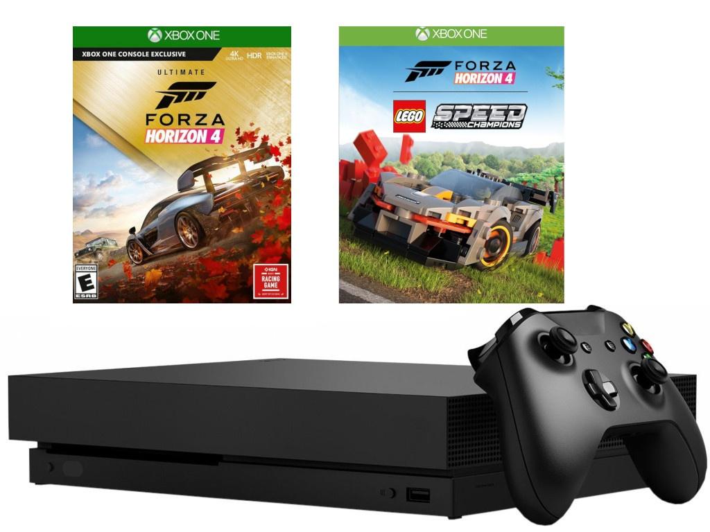 Игровая приставка Microsoft Xbox One X 1Tb + Forza Horizon 4 Lego DLC CYV-00469