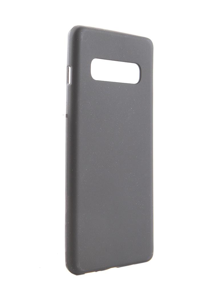 Аксессуар Чехол Svekla для Samsung Galaxy S10 Plus Silicone Black SV-SGS10PL-MBL
