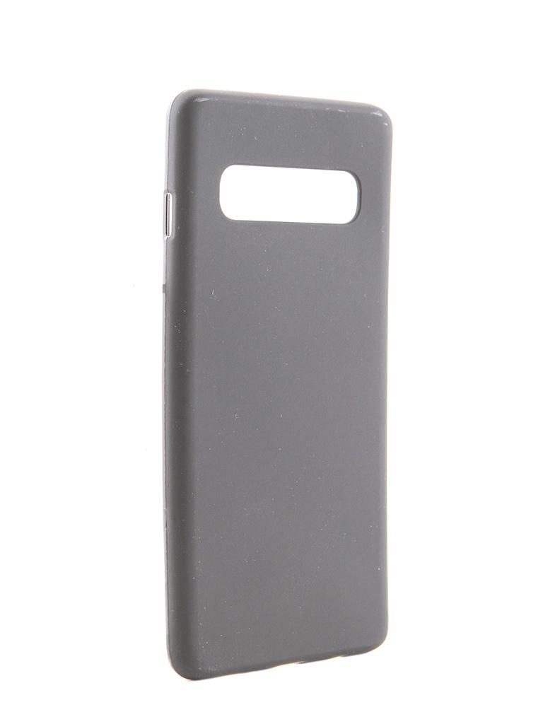 Аксессуар Чехол Svekla для Samsung Galaxy S10 Silicone Black SV-SGS10-MBL