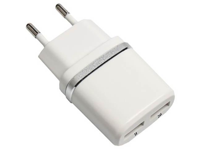 Зарядное устройство Exployd Classic 3.4A 2хUSB White EX-Z-451