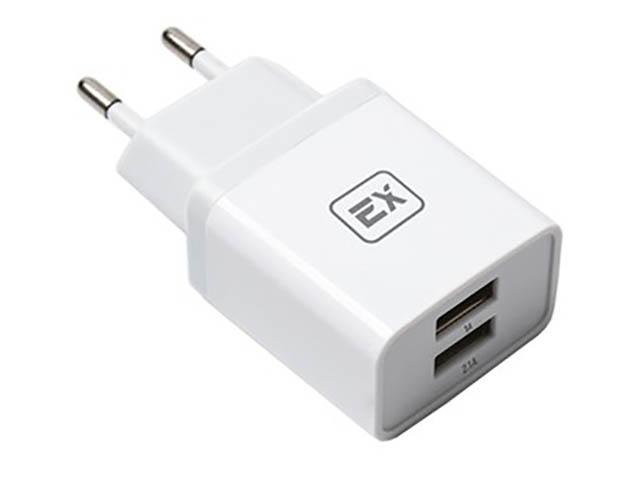 Зарядное устройство Exployd Classic 3.1A 2хUSB White EX-Z-611