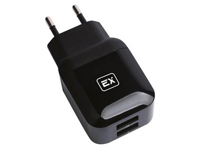 Зарядное устройство Exployd Classic 3.1A 2хUSB Black EX-Z-612