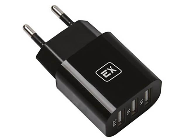 Зарядное устройство Exployd Classic 4.4A 3хUSB Black EX-Z-614