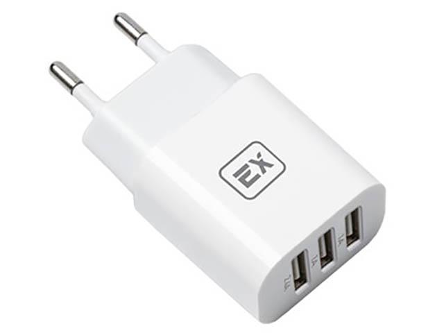 Зарядное устройство Exployd Classic 4.4A 3хUSB White EX-Z-615