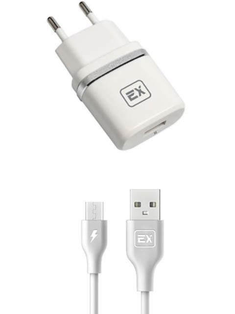 Зарядное устройство Exployd Classic 1А + MicroUSB White EX-Z-599