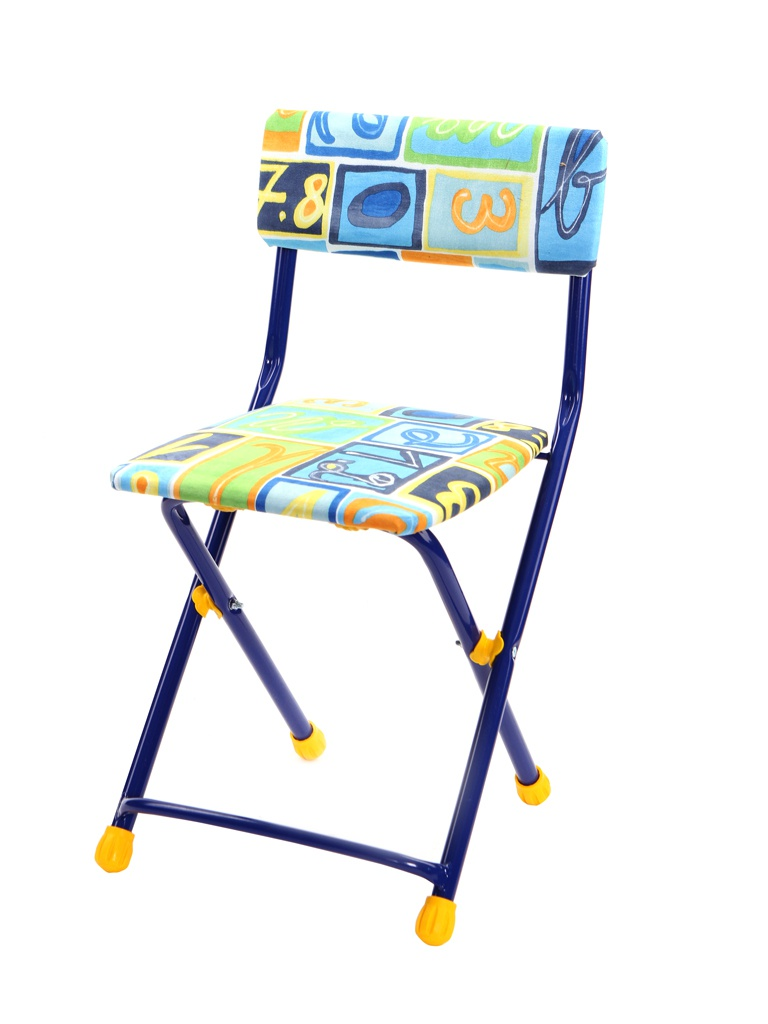 Детский стул Nika СТУ1 с цифрами и буквами Blue