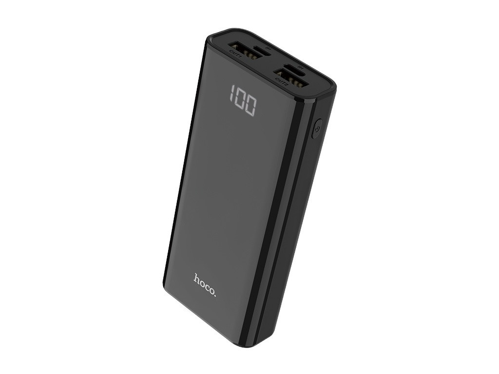 Внешний аккумулятор Hoco Power Bank J45 Elegant Shell 10000mAh Black