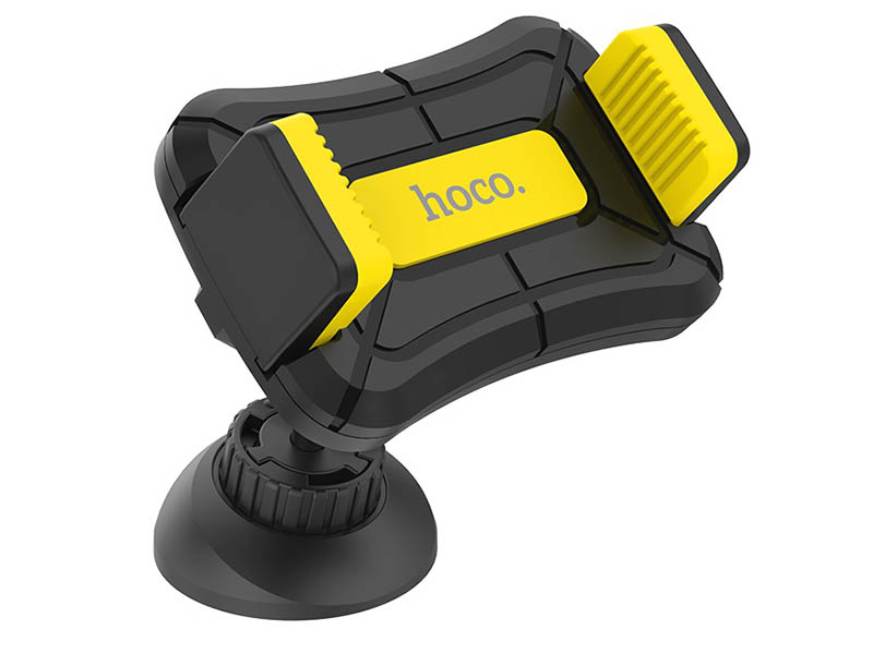 Держатель Hoco CA43 Travel Spirit Push-Type Dashboard In-Car Holder Black-Yellow