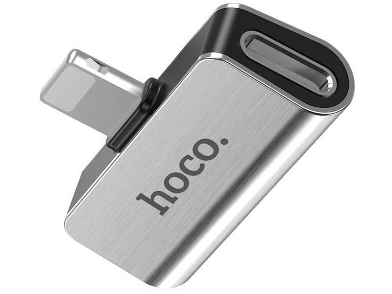 Фото - Аксессуар Hoco LS24 Dual Lightning Digital Audio Converter Silver аксессуар