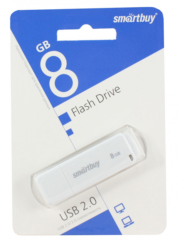 USB Flash Drive 8Gb - SmartBuy LM05 White SB8GBLM-W