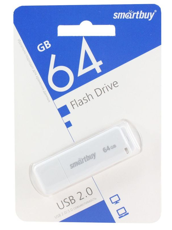 USB Flash Drive 64Gb - SmartBuy LM05 White SB64GBLM-W
