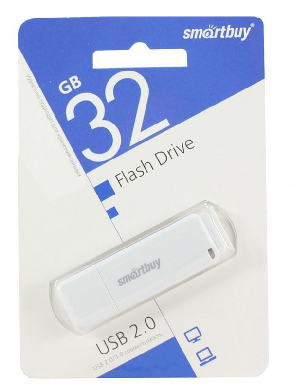 USB Flash Drive 32Gb - SmartBuy LM05 White SB32GBLM-W