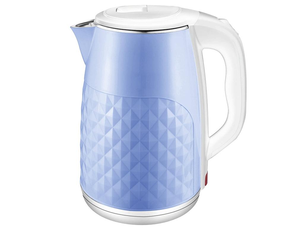 Чайник Добрыня DO-1237W White-Light Blue